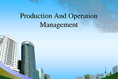 Production & Operations Management